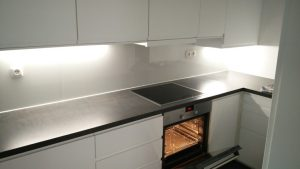 Küche L-förmig, grifflos
